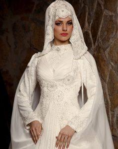 فساتين زفاف محجبات تركية بالصور 2016