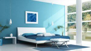 اللون الازرق احدث الوان غرف نوم المتزوجين 2016