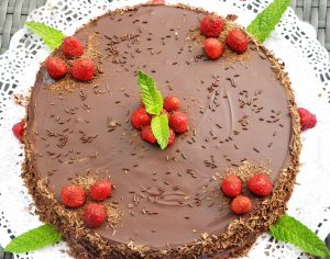 تزين تورتة الشوكولاتة 2016