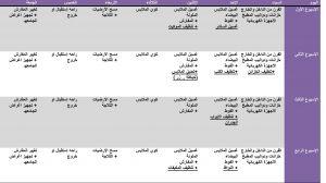 جدول ترتيب المنزل وتنظيفه بالصور 2016
