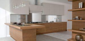 اشكال تصميمات المطبخ الخشبي بالصور 2016