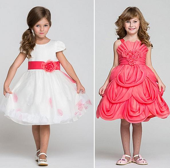 91dc56aa8c085 ملابس العيد للاطفال البنوتات سن 5 2015