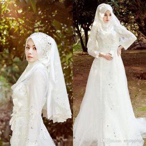 صور فساتين زفاف محجبات 2016