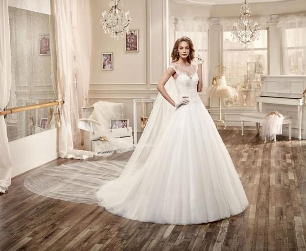 ce430e5eef494 فساتين زفاف اسبانية موضة 2016