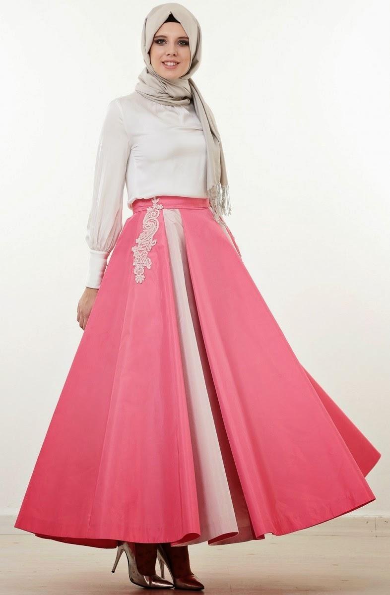 1a68980b50207 Turkish hijab dresses in fashion for 2016. فساتين محجبات تركية جميلة 2016  بالصور. اجمل فساتين محجبات ملونة 2016
