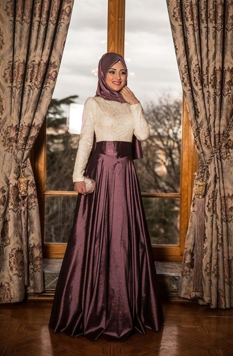 4f3974e9d10c7 Turkish hijab dresses in fashion for 2016