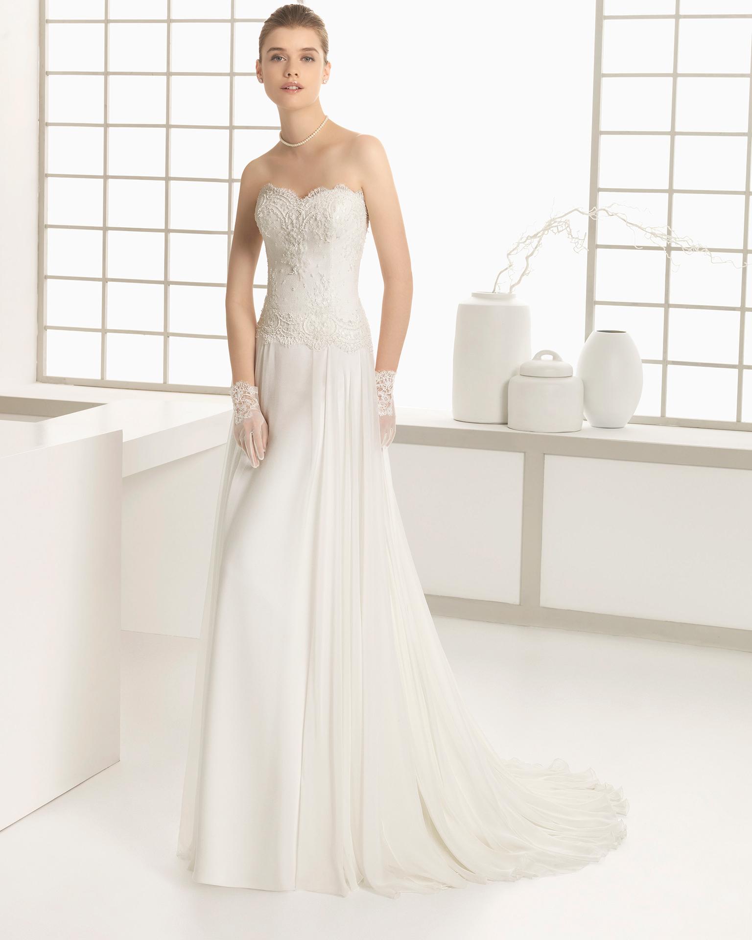 ecff29ebfc945 اللون الابيض يمكن ان يكون فستان خطوبة رائع او فستان حفل زفاف او داخلة رائع  لسنة