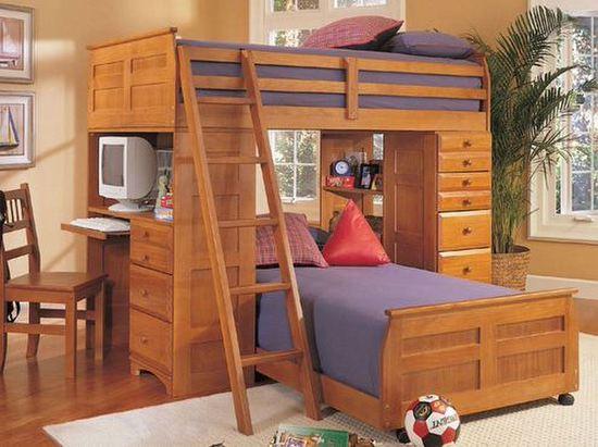 Çilek-Ahşap-Çocuk-Odası-Modeli
