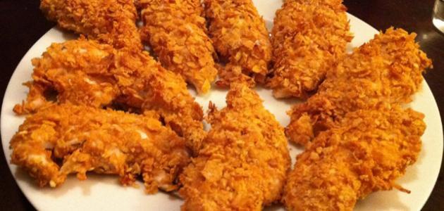 وصفاتأصابع الدجاج المقرمش بالفرن