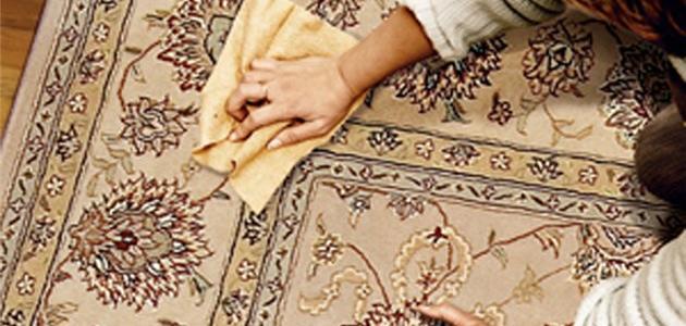 إزالة بقع السجاد الحرير