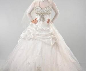 967504850383e احدث فساتين زفاف محجبات مصرية موضة 2016