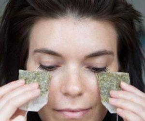 تنظيف العين بالشاي