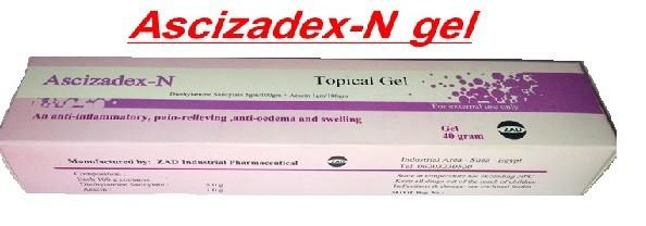 نشرة مرهم أسي زادكس ان جل لعلاج التورمات Ascizadex-n