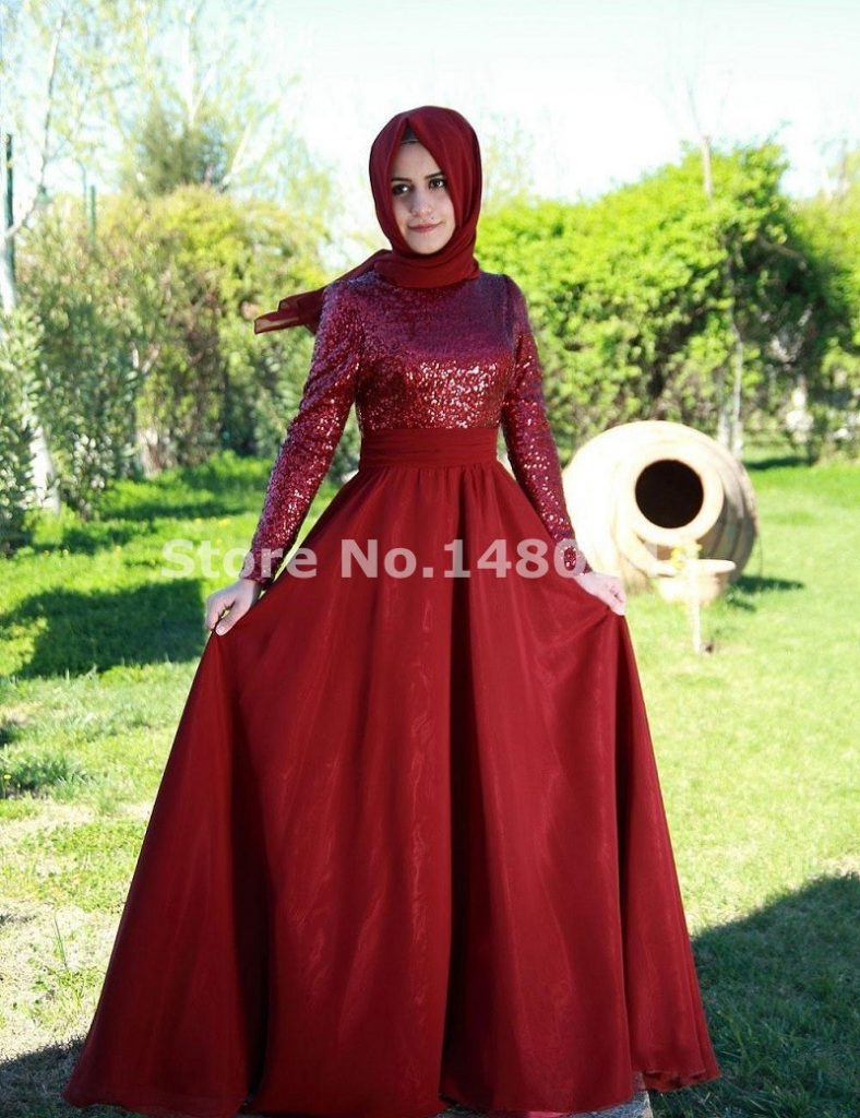 2015-A-line-Red-Muslim-Evening-Dresses-Empire-Long-Sleeve-Formal-Prom-Party-Gowns-for-Women