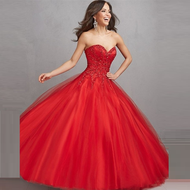 2015-New-Collection-Sweetheart-Beaded-Ball-Gown-font-b-Sweet-b-font-Fairy-Red-Quinceanera-font
