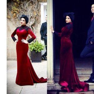 فساتين جميلة للمحجبات للعيد 2016