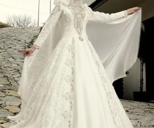 فساتين زفاف للمحجبات تركية 2018