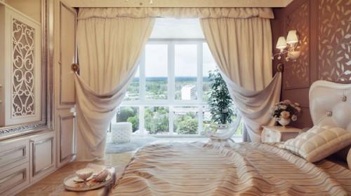 أشكال ستائر جديدة لغرف النوم