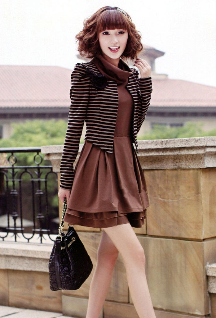 Classic_Korean_Style_Fake_Two_Pieces_Long_Sleeve_Dress_Sweater_Dresses-_ericdress.com_10541369