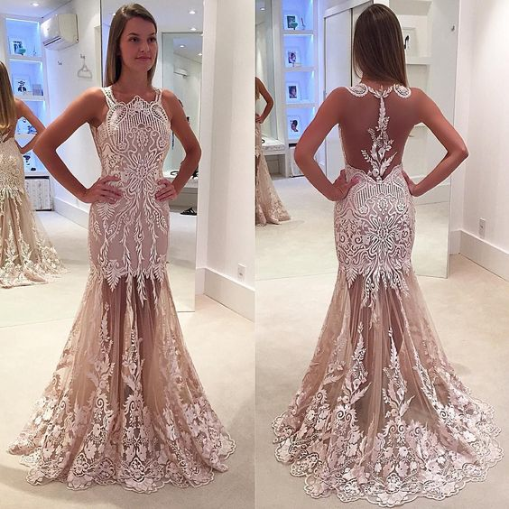 High-Quality-Pink-Sweet-Prom-Dresses-2017-Sexy-See-Through-Back-Lace-Appliques-vestidos-de-baile