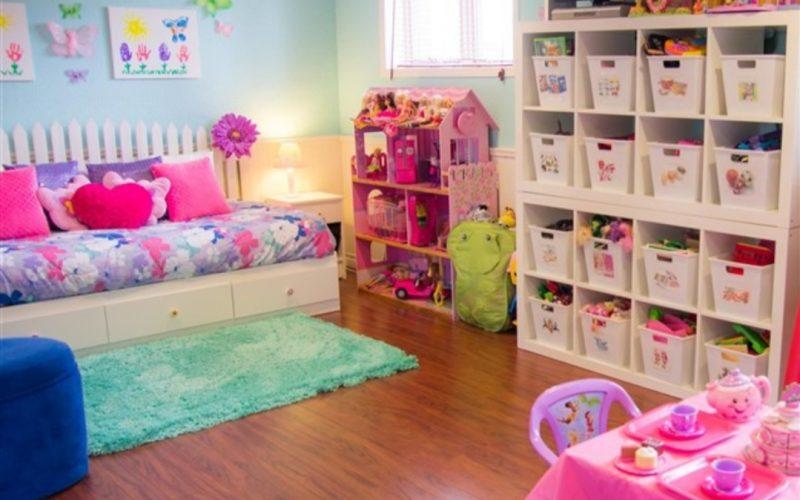 أفكار لتخزين الألعاب في غرف الأطفال