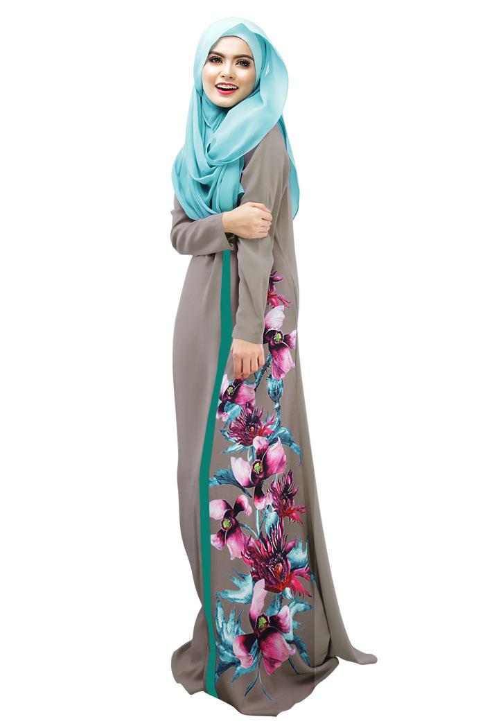 Muslim-Women-Abaya-font-b-Beautiful-b-font-3D-Flowers-Printing-Arab-Kaftan-font-b-Islamicمنتدي فتكات عرب