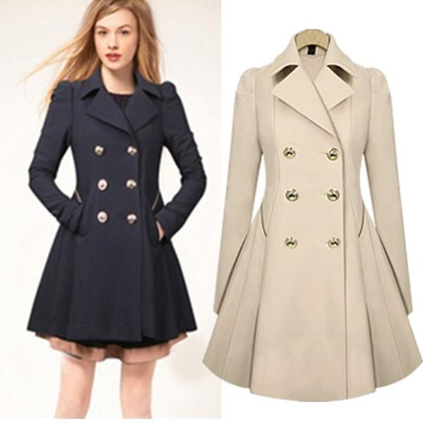 S-XXL-Plus-Größe-Trenchcoat-für-Frauen-Zweireiher-Schlank-Windjacke-Weiblichen-Desigual-Lange-Mantel-Femme-Damen