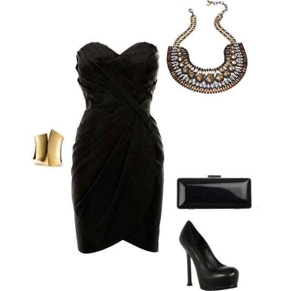 siyah-elbise-siyah-ayakkabi-kombinasyonu