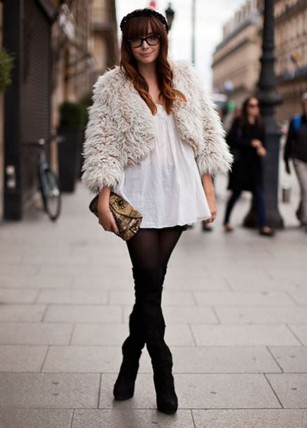Winter-Dress-Woolen-with-Boots-ideas