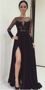 Winter-Formal-2015-Elegant-Long-Sleeve-Evening-Dresses-Applique-Lace-Split-Sexy-Wedding-Guest-Party-Gowns