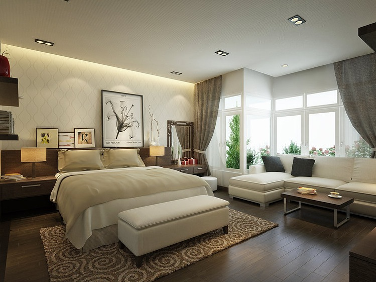 Modern bedrooms designs for Living room 2 seating areas
