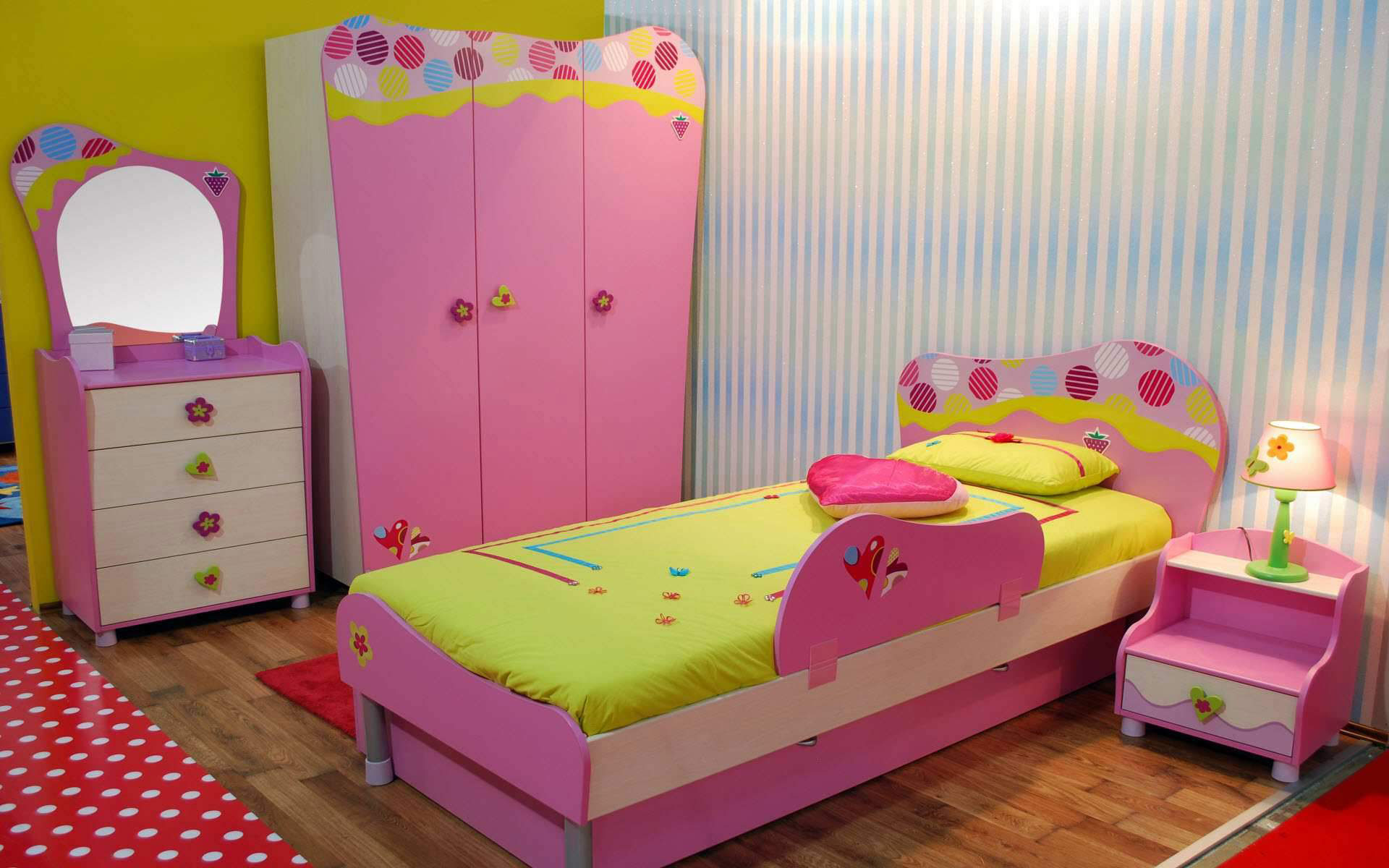 bedroom-remodel-ideas-unique-kids-bedroom-with-pink-color-interior-and-furniture-also-cute-desk-lamp-for-kids-bedroom-ideas-for-girls-awesome-wall-color-and-furnitures-also-cute-bedroom-accessories