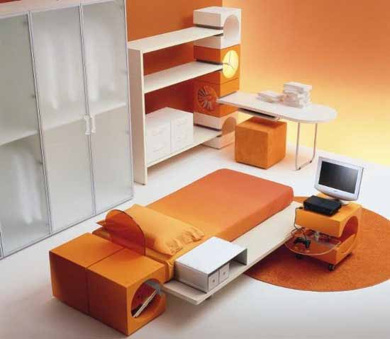 cool-orange-kids-bedroom-decorating_