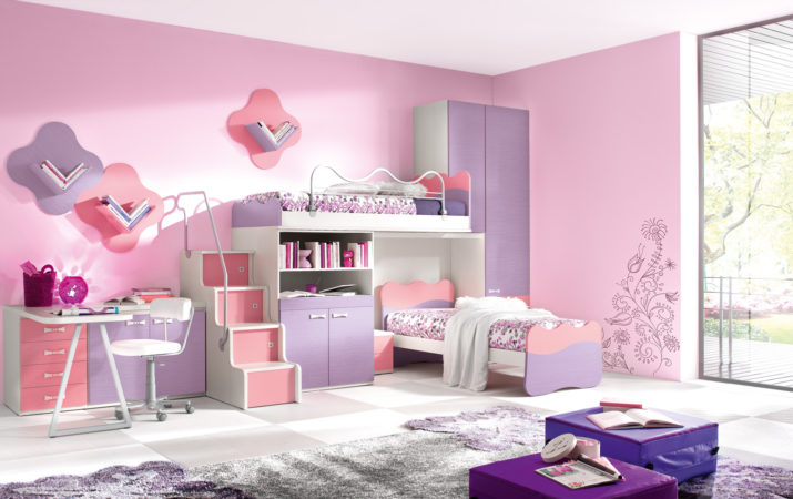 dazzling-girls-bunk-beds-for-your-kids-modern-girl-bunk-beds-colorful-kids-images-of-fresh-on-collection-2017-kids-bunk-bed-for-girls-715x450