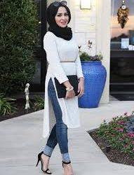 ملابس محجبات شتوية جميلة 2019