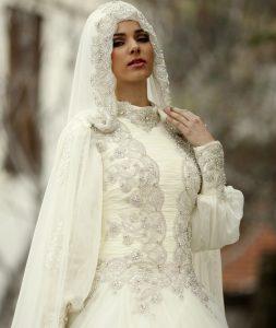 فساتين زفاف بيضاء شيك للمحجبات 2016