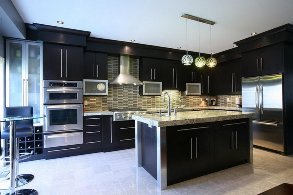kitchen-color-ideas-with-dark-cabinets-kitchen-islands-carts-cookie-cutters-table-linens-pot-racks-cooktops-roaster-convection-ovens-utensil-crocks-racks