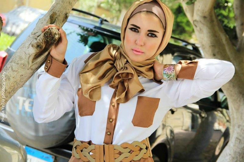 الوان واشكال فساتين المصممة المصرية مليكة للمحجبات صيف  موضة 2016
