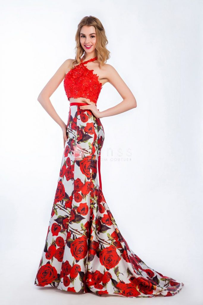 mermaid-prom-dresses-2017-floral-printed-red-mermaid-two-piece-lace-and-satin-halter-prom-dress-1-hBirIF