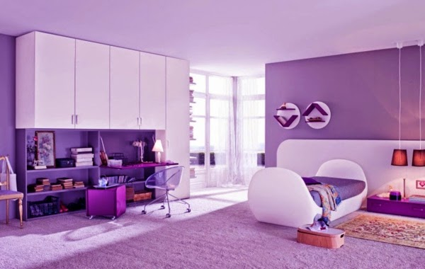 purple-bedroom-ideas-for-girls-room-purple-walls-and-white-furniture