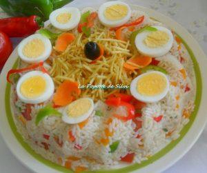 سلطة الارز بالتونة والبيض مقبلات رمضانية شهية 2015