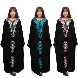 www.fatakat-a.com عبايات سوداء للمحجبات 20172016-Noir-Musulman-Abaya-Islamique-V&ecirc
