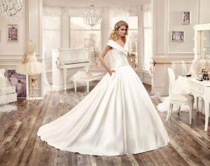 مجموعة الدانتيل الابيض في موضة فساتين الزفاف لمصممة فرنسية مشهورة لعام 2016