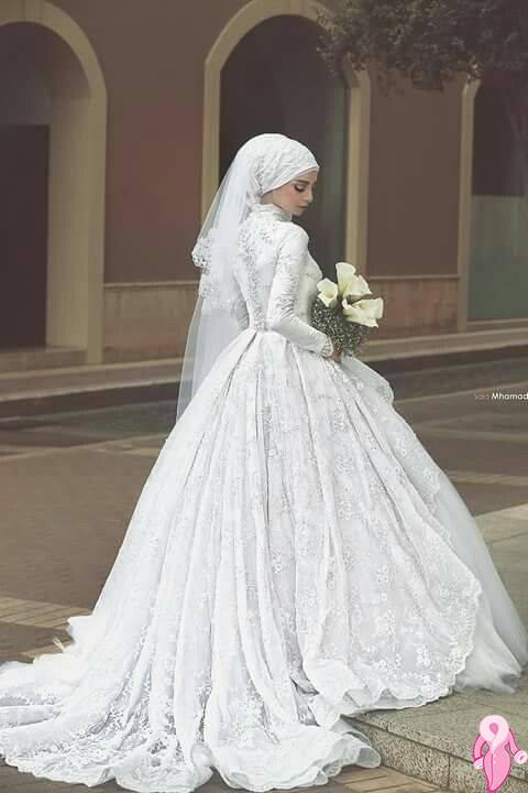 99d8a8a7a احدث موديلات فساتين زفاف محجبات تركية 2018