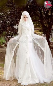 احدث فساتين زفاف محجبات تركية 2016