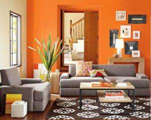 اللون البرتقال هو اجمل الوانات غرف المعيشة لسنة 2016