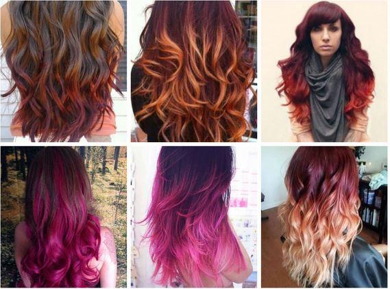 الوانات الشعر تطورت لتصبح لون الاحمر مثل لون النار كموضة الشعر للفتيات في كوافيرات امريكية حديثة تعرفي علي اجمل موضة للشعر بالوانات عام 2016