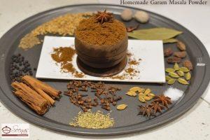 التوابل المطلوبة لاعداد وصفة ارز الخضار المقلية علي الوصفة الهندية