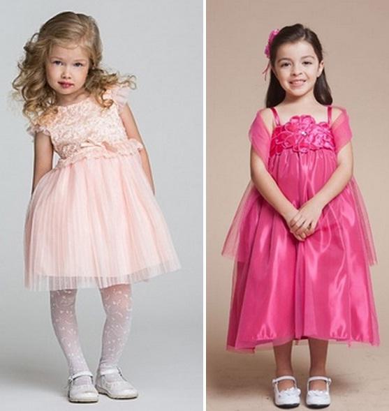 فساتين رائعه من الستان للاطفال موديلات جميلة ورقيقة 2015
