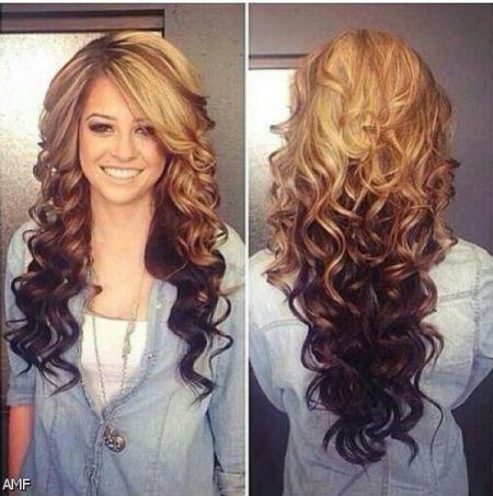تعرفي علي احدث قصات وموضة الشعر المموج باللون الذهبي الفاتح او الغامق في شتاء وصيف لعام 2016